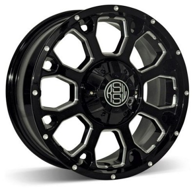 RSSW Enduro Gloss Black Machine wheel (20X8.5, 5x139.7, 77.8, 15 offset)