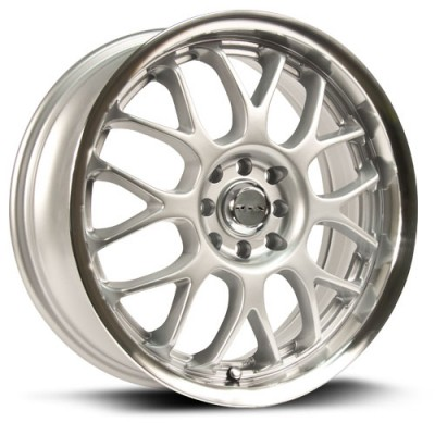 RTX Wheels Euro, Argent Machiné /Machined Silver, 18X7.5, 5x100/114.3 ( offset/deport 42), 73.1
