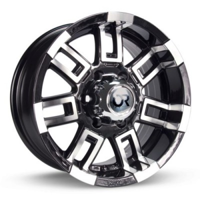 RTX Wheels Crush Black Machine Lip wheel (15X8, 5x114.3, 73.1, 12 offset)