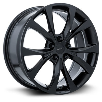 RTX Wheels Flint Satin Black wheel | 18X8, 5x108, 63.4, 42 offset