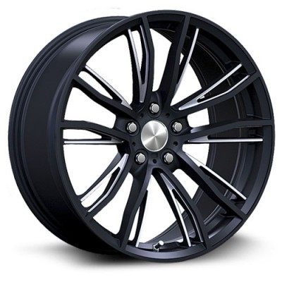 RTX Wheels Kleve Machine Black wheel (17X8, 5x120, 72.6, 35 offset)