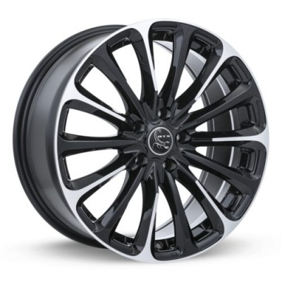 RTX Wheels Poison Black Machine Lip wheel (16X7, 5x114.3, 73.1, 42 offset)