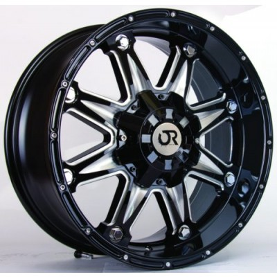 RTX Wheels Spine Black wheel (17X9, 6x139.7, 106.1, 10 offset)