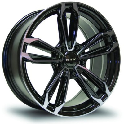 RTX Wheels Ultra 5 Black Machine Lip wheel (17X7.5, 5x114.3, 73.1, 38 offset)