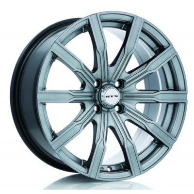 RTX Wheels Vane Gun Metal wheel (18X8, 5x114.3, 73.1, 40 offset)