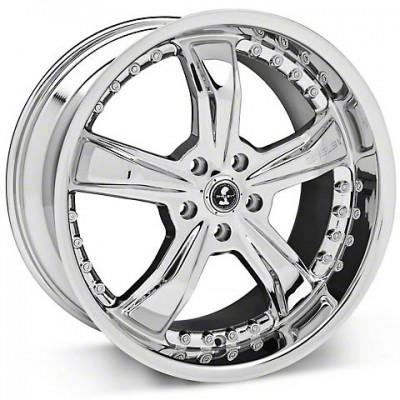 Shelby SB698 RAZOR SHELBY Chrome Plated wheel (18X10, 5x114.3, 72.60, 45 offset)