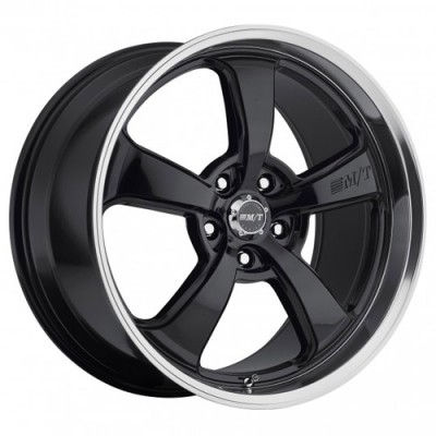 Mickey Tompson, MT SC-5 Black, 17X10, 5x114.3, (offset-deport)18, Noir Rebord Machine/Black Diamond Cut