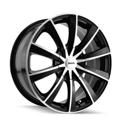 Touren TR10 Machine Black wheel (18X8, 5x100/114.3, 72.62, 40 offset)