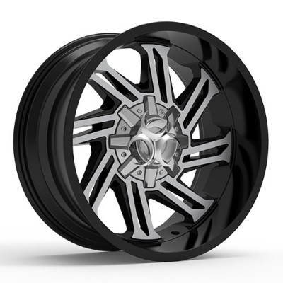 TOXIC RAZR Gloss Black Machine wheel (17X9, 5x114.3/127, 78.1, -15 offset)