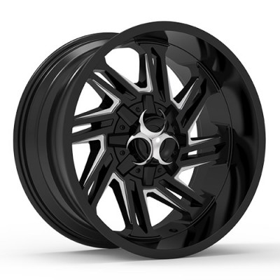 TOXIC RAZR Black Machine Lip wheel (17X9, 5x114.3/127, 78.1, -15 offset)