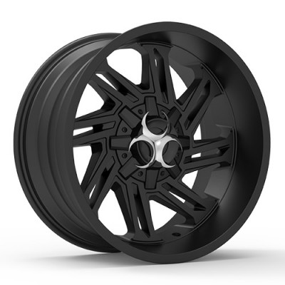 TOXIC RAZR Satin Black wheel (17X9, 5x114.3/127, 78.1, -15 offset)