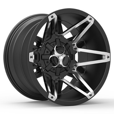 TOXIC SHOK Satin Black wheel (17X9, 5x114.3/127, 78.1, -15 offset)