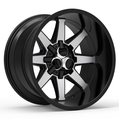 TOXIC WIDOW Gloss Black Machine wheel (17X9, 5x114.3/127, 78.1, -15 offset)