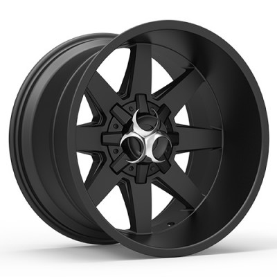 TOXIC WIDOW Satin Black wheel (17X9, 5x114.3/127, 78.1, -15 offset)