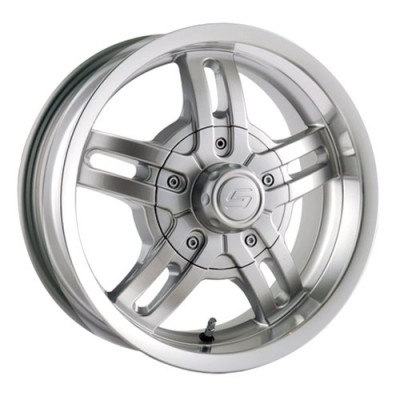 Ion Trailer 12 Machine Silver wheel (15X6, 5x114.3/120.65, 83.82, 0 offset)