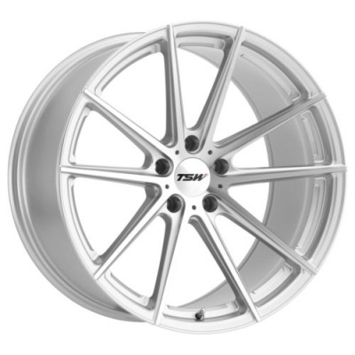 TSW Wheels BATHURST Silver wheel (17X8, 5x100, 72.1, 35 offset)