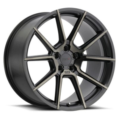TSW Wheels CHRONO Matte Black Machine Lip wheel (17X8, 5x108, 72.1, 40 offset)