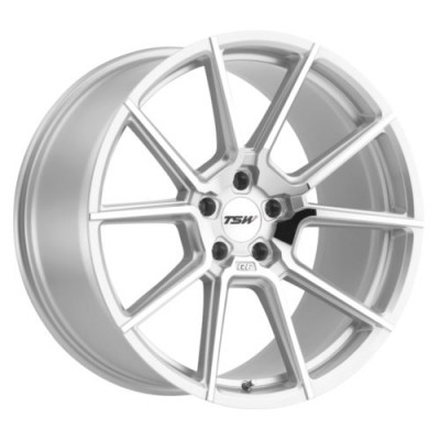TSW Wheels CHRONO Silver wheel (17X8, 5x112, 66.6, 32 offset)