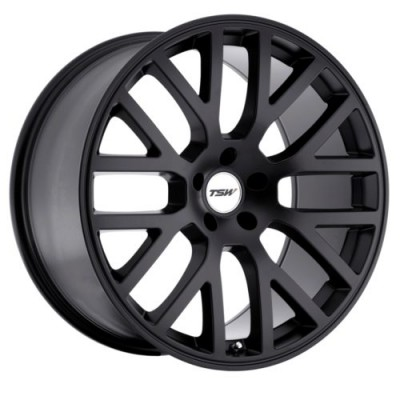 TSW Wheels DONINGTON Matte Black wheel (17X8, 5x100, 72, 32 offset)