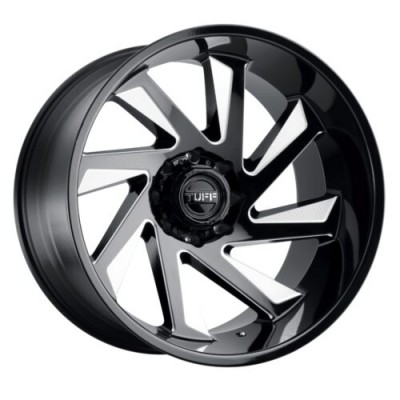 Tuff Wheels T1B Gloss Black Machine wheel (24X14, 6x139.7, 112.1, -72 offset)