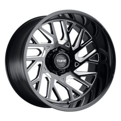 Tuff Wheels T4B Gloss Black Diamond Cut wheel (20X12, 6x139.7, 112.1, -45 offset)