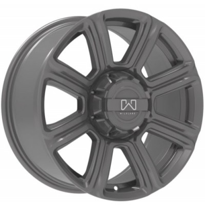 Wildland Hurricane Matte Gun Metal wheel (17X8.0, 5x139.7/127, 77.8, 18 offset)