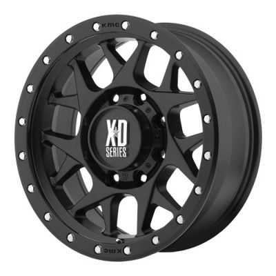 KMC Wheels Bully Satin Black wheel (16X8, 8x165.1, 125.5, 0 offset)