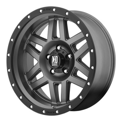 KMC Wheels Machete Grey wheel (17X9, 5x150, 110.5, 18 offset)