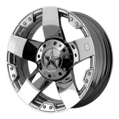 KMC Wheels Rockstar Chrome wheel (17X8, 5x114.3/127, 72.6, 35 offset)