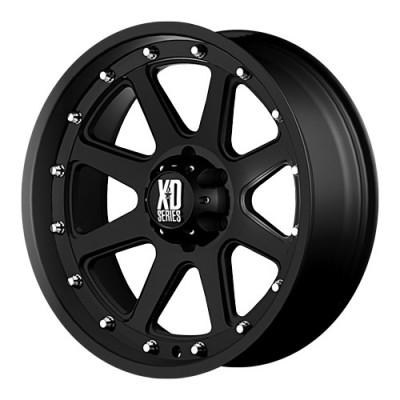 KMC Wheels Addict Matte Black wheel (17X9, 6x135, 87.1, -12 offset)