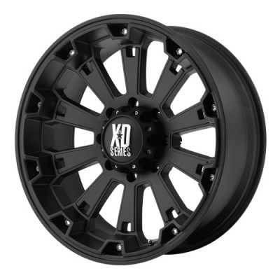 KMC Wheels Misfit Matte Black wheel (22X10, 8x165.1, 125.5, -24 offset)