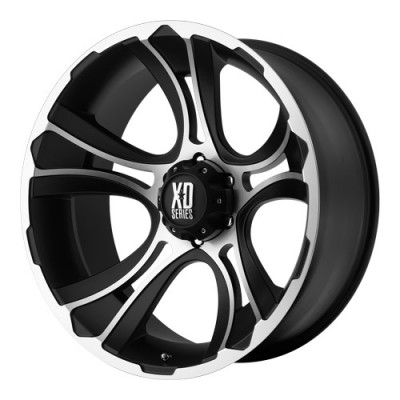 KMC Wheels Crank Matt Black Machine wheel (20X9, 5x127, 78.3, 0 offset)