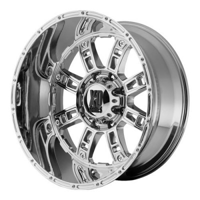 KMC Wheels Riot Chrome wheel (20X10, 5x127, 78.3, -24 offset)