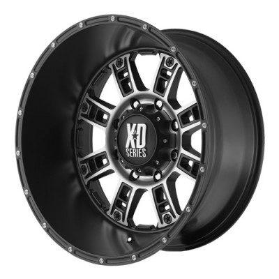 KMC Wheels Riot Matt Black Machine wheel (18X9, 6x114.3, 72.6, 18 offset)