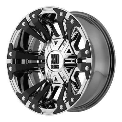 KMC Wheels Monster 2 PVD Chrome wheel (18X9, 8x170, 130.81, 18 offset)