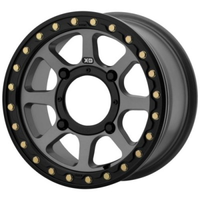 XD ATV ADDICT 2 BEADLOCK Satin Grey wheel (15X6, 4x110, 86, 38 offset)