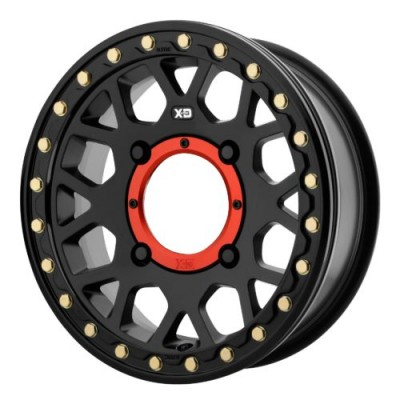 XD ATV XS235 GRENADE BEADLOCK Satin Black wheel (15X6, 4x137, 112.00, 38 offset)