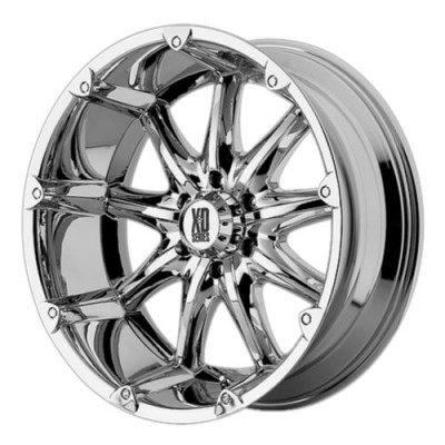 XD Series by KMC Wheels BADLANDS Chrome Plated wheel (22X9.5, 8x170, 125.5, 18 offset)