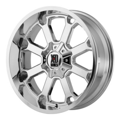 XD Series by KMC Wheels BUCK 25 Chrome Plated wheel (20X10, 8x170, 125.5, -24 offset)