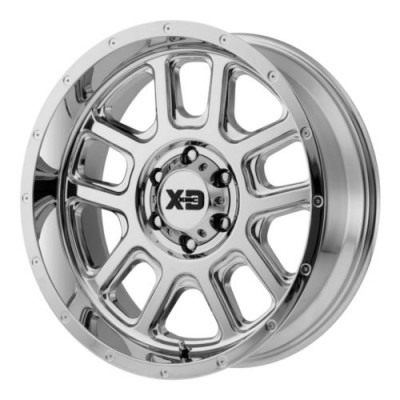 XD Series by KMC Wheels DELTA Chrome Plated wheel (20X9, 8x180, 124.2, 0 offset)