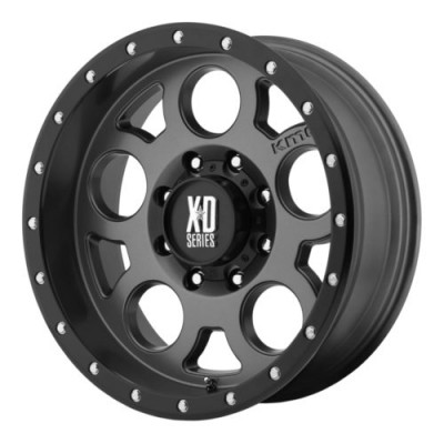 XD Series by KMC Wheels ENDURO PRO Dark Matte Grey wheel (18X9, 5x139.7, 108, -12 offset)