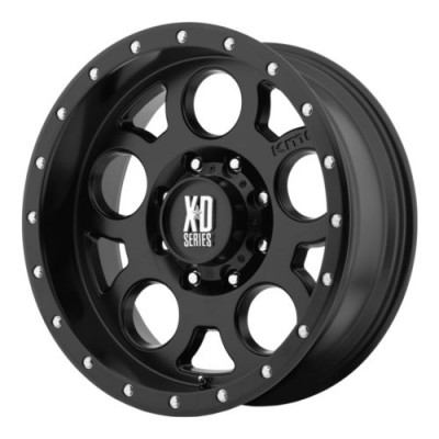 XD Series by KMC Wheels ENDURO PRO Machine Black wheel (16X8, 5x114.3, 72.6, 0 offset)