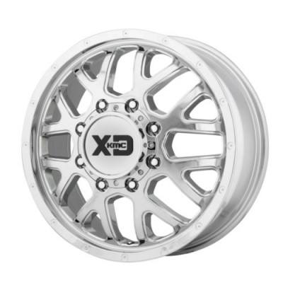XD Series by KMC Wheels GRENADE DUALLY Chrome wheel (20X8.25, 8x165.1, 125.5, 127 offset)