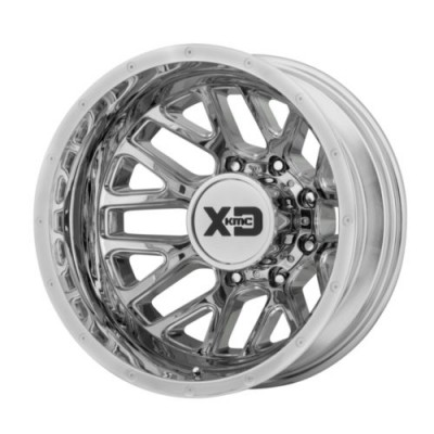 XD Series by KMC Wheels GRENADE DUALLY Chrome wheel (20X8.25, 8x165.1, 125.5, -198 offset)