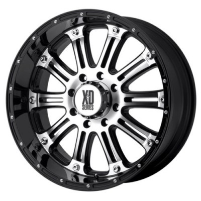 XD Series by KMC Wheels HOSS Gloss Black Machine wheel (22X9.5, 8x170, 125.5, 0 offset)