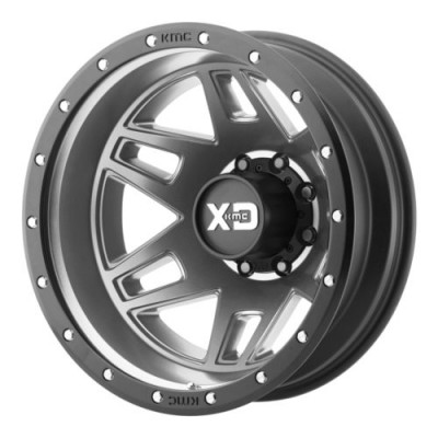 XD Series by KMC Wheels MACHETE DUALLY Gun Metal wheel (17X6.5, 8x200, 142, -155 offset)
