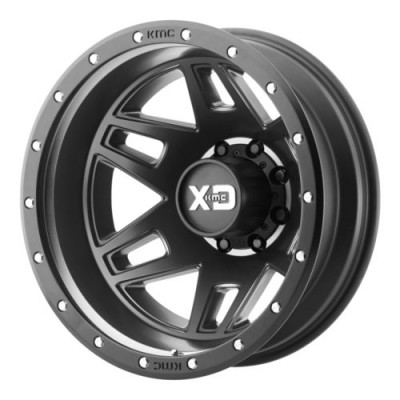 XD Series by KMC Wheels MACHETE DUALLY Machine Black wheel (17X6.5, 8x165.1, 125.5, -155 offset)