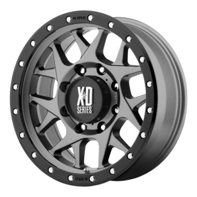XD Series by KMC Wheels XD127 BULLY Matte Gun Metal wheel (16X8, 6x135, 87.10, 0 offset)