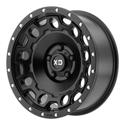 XD Series by KMC Wheels XD129 HOLESHOT Satin Black wheel (17X9, 8x170, 125.50, -12 offset)