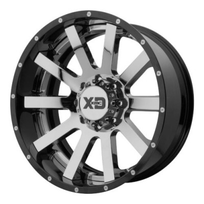 XD Series by KMC Wheels XD200 HEIST Chrome wheel (20X10, 5x127, 72.60, -18 offset)